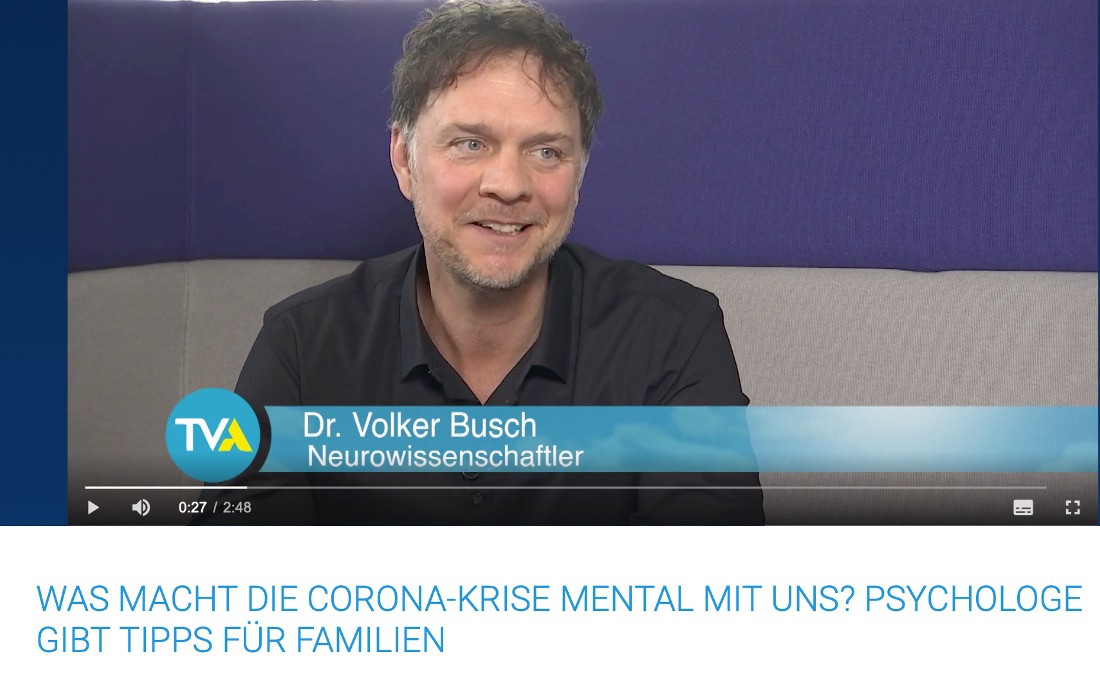 Talkgast bei TVA - Dr. Volker Busch
