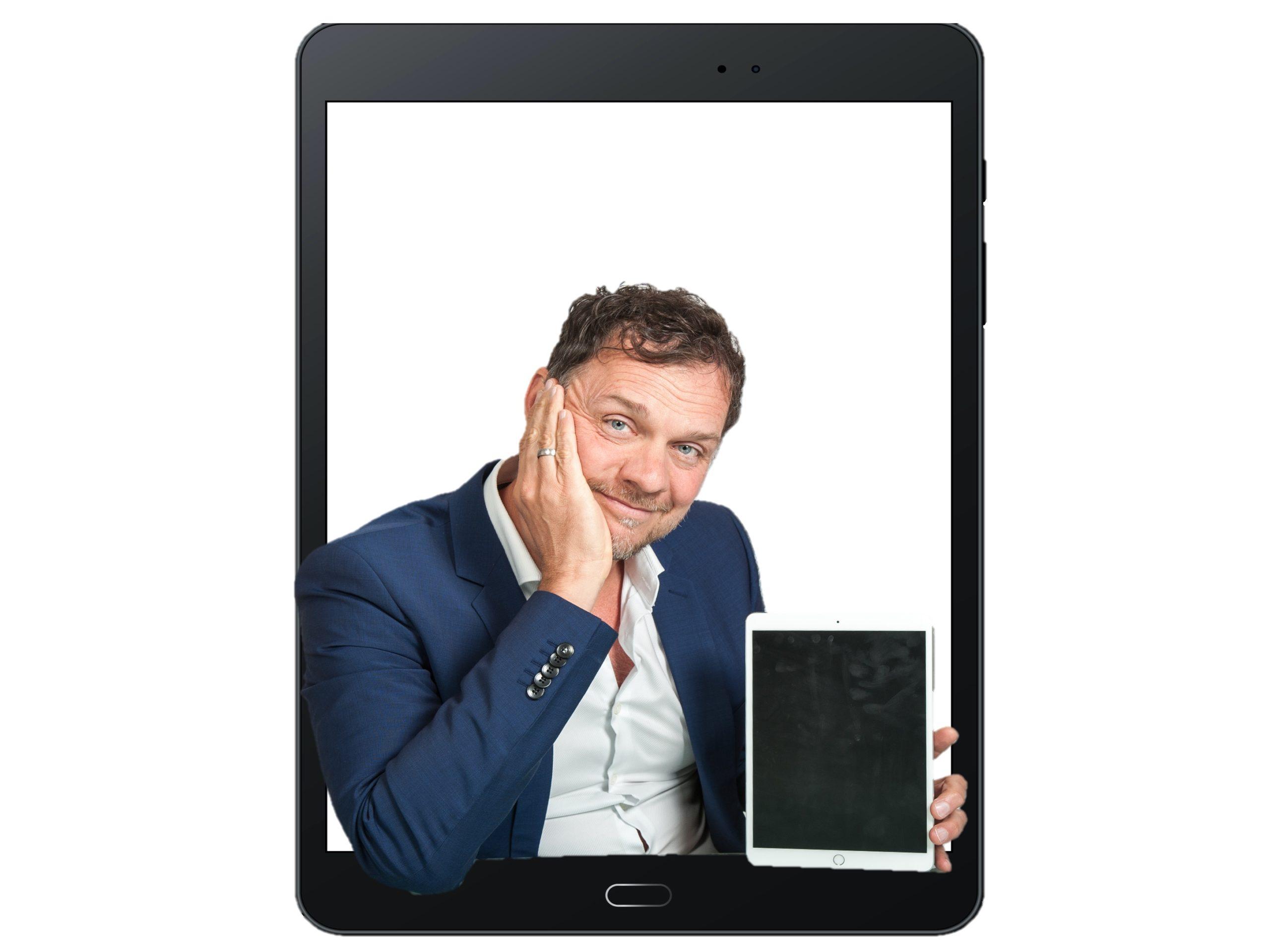 Mit Tablet - Dr. Volker Busch