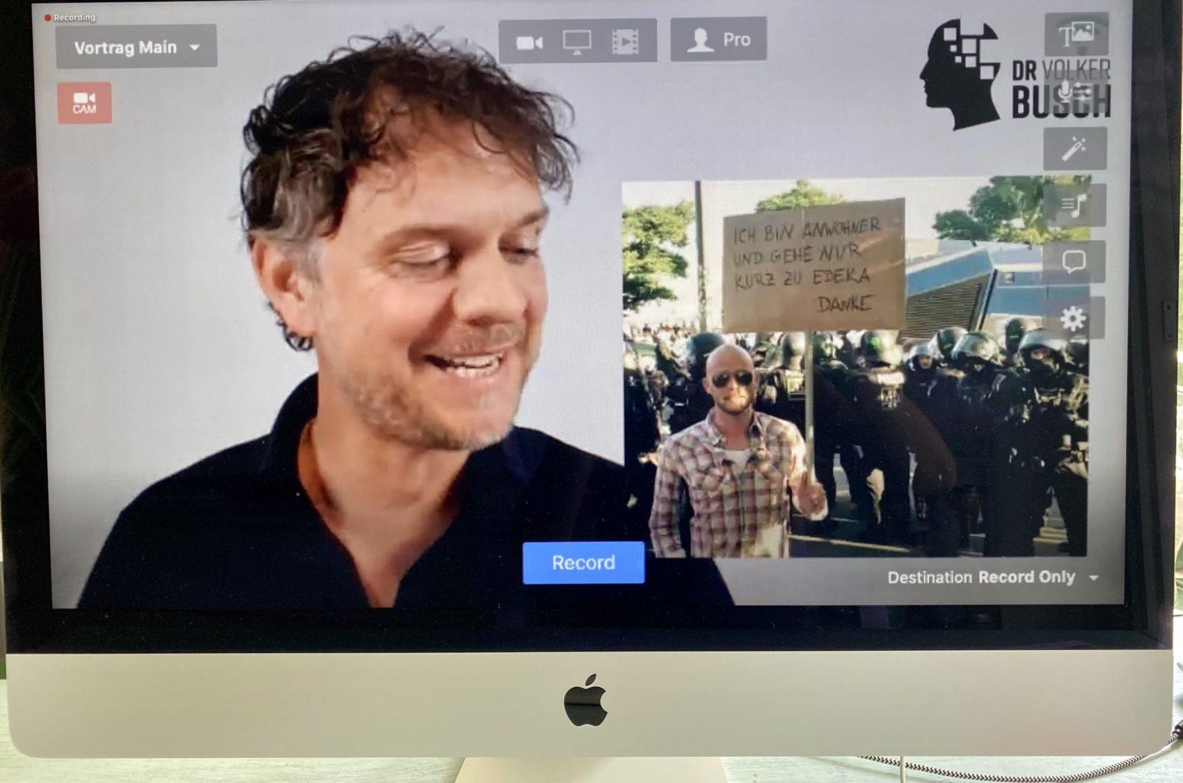 Zu Gast beim 1. Online-Wissensforum 2 - Dr. Volker Busch