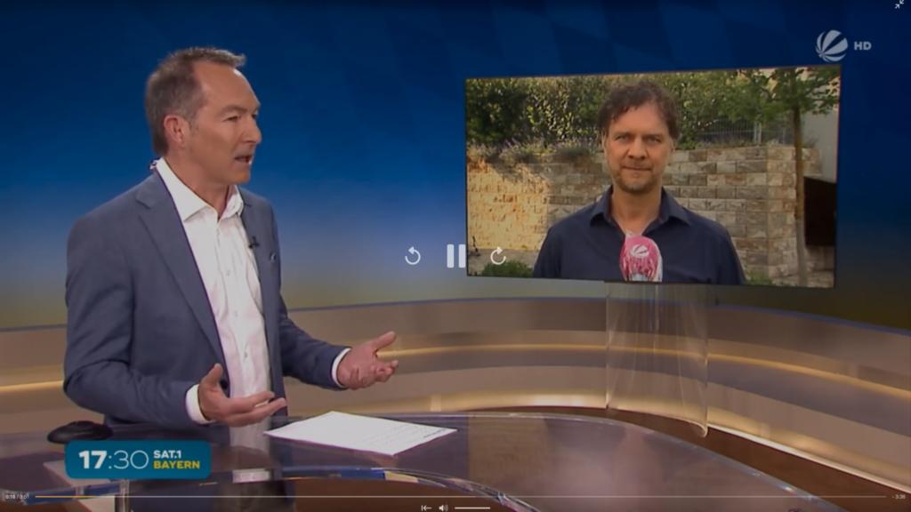 Zu Gast in den SAT1 Nachrichten - Dr. Volker Busch
