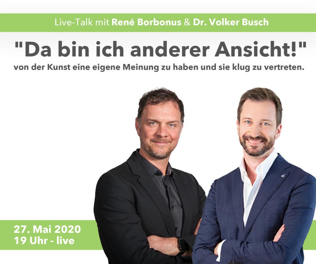 Live-Talk mit Rene Borbonus - Dr. Volker Busch