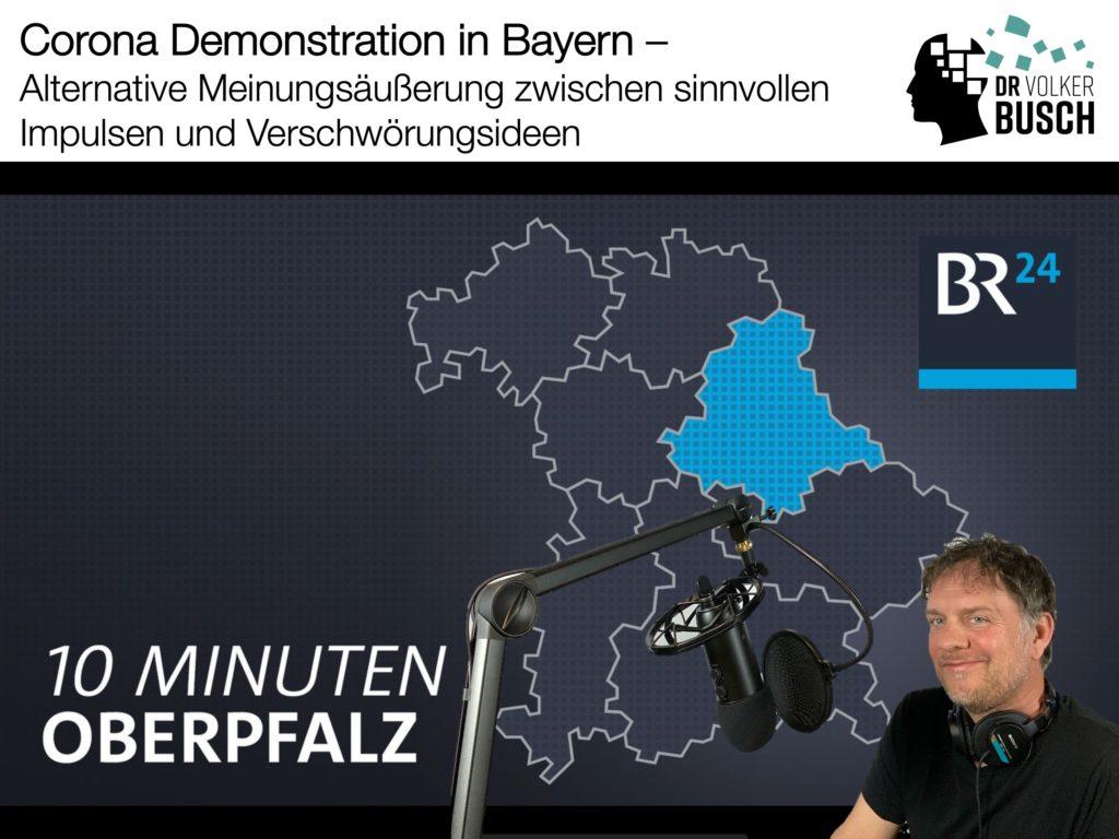 """Zu Gast bei BR24 zum Thema """"Corona Demos in Bayern"""" - Dr. Volker Busch"""